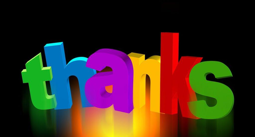 Ein Dankeschön an unsere Kunden